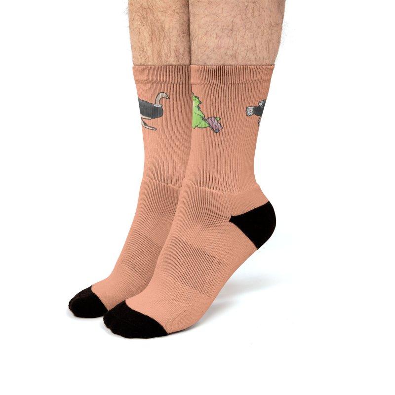 Buddy Gator - You Can Do It, Ostrich Men's Socks by Buddy Gator's Artist Shop