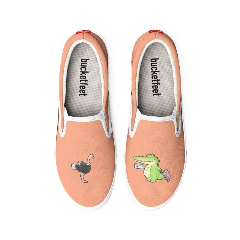 Buddy Gator - You Can Do It, Ostrich Women's Shoes by Buddy Gator's Artist Shop