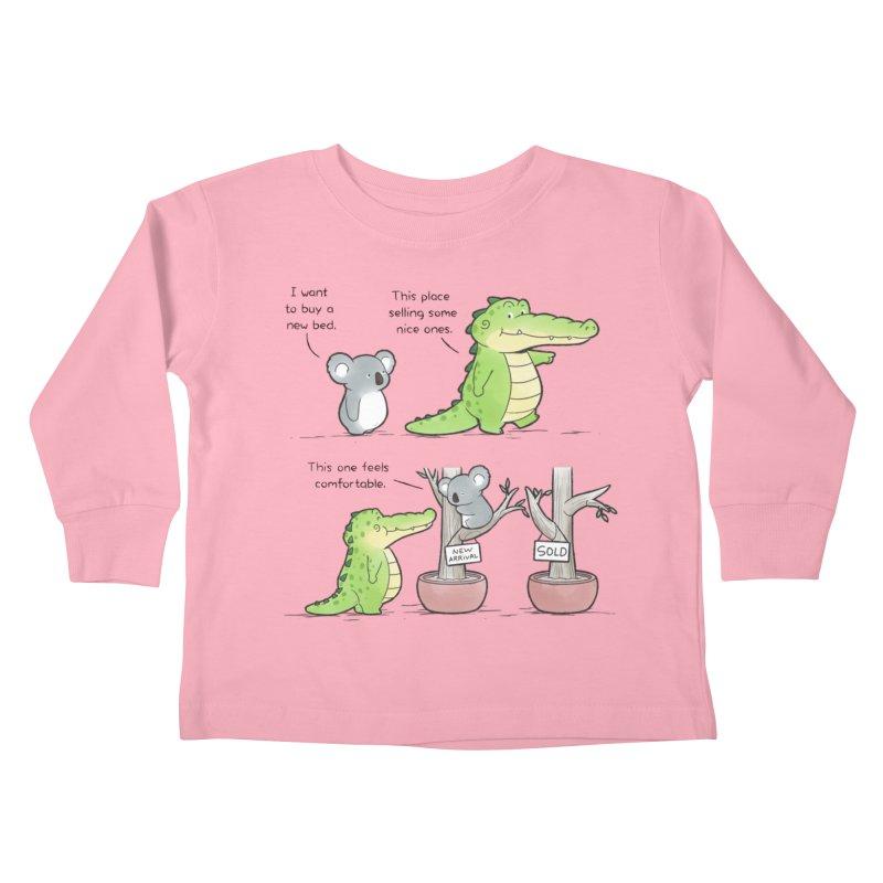 Buddy Gator - Shopping For A New Bed Kids Toddler Longsleeve T-Shirt by Buddy Gator's Artist Shop