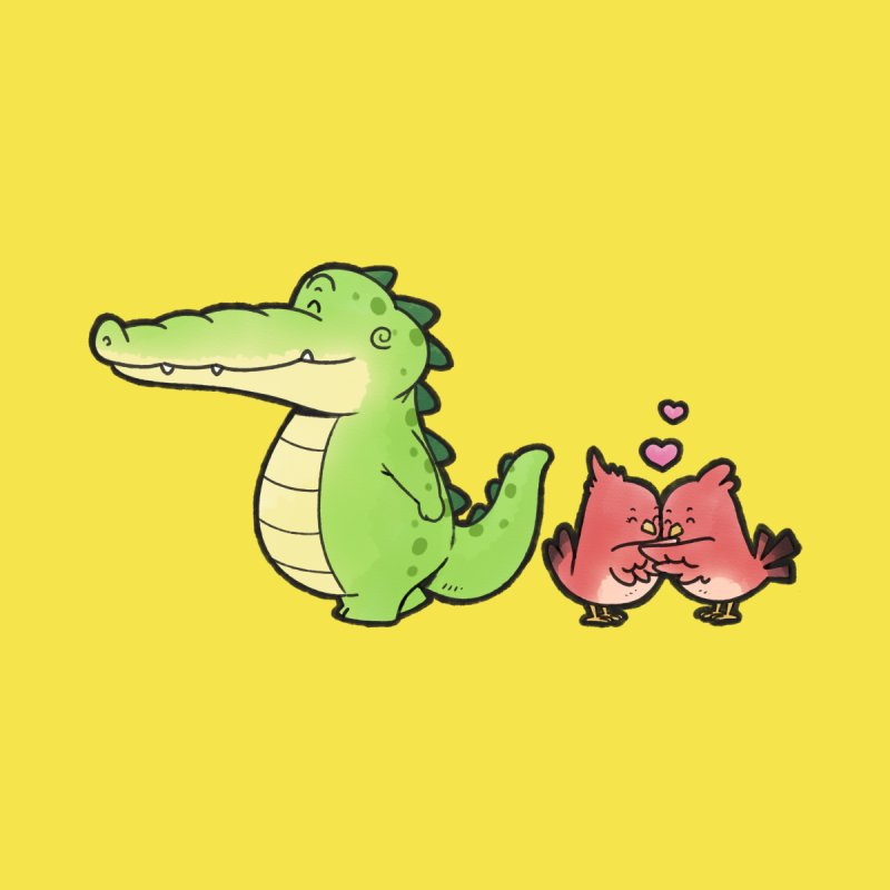 Buddy Gator - Calm Down, Bird Men's T-Shirt by Buddy Gator's Artist Shop