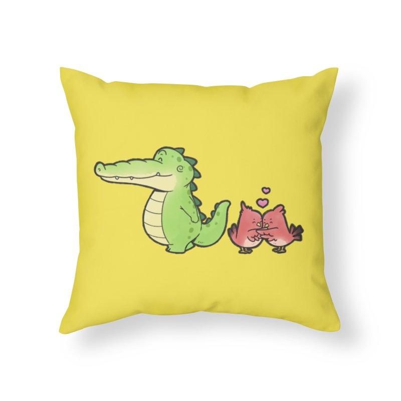 Buddy Gator - Calm Down, Bird Home Throw Pillow by Buddy Gator's Artist Shop