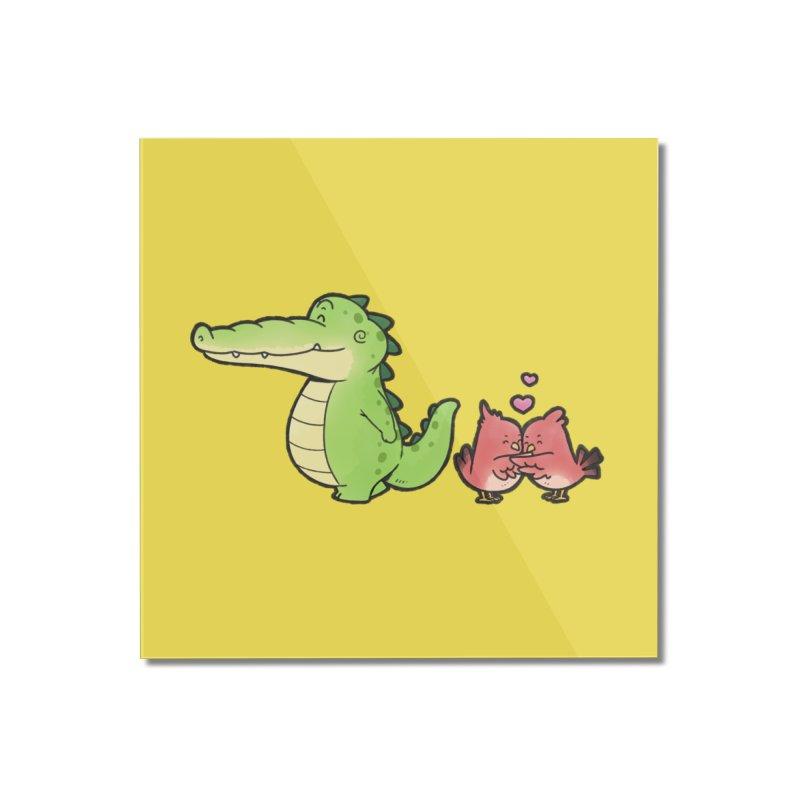 Buddy Gator - Calm Down, Bird Home Mounted Acrylic Print by Buddy Gator's Artist Shop