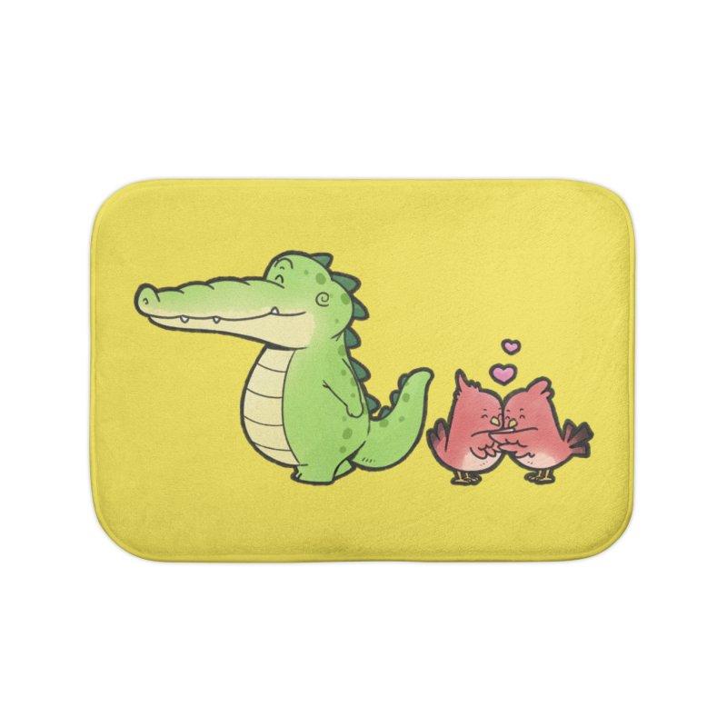 Buddy Gator - Calm Down, Bird Home Bath Mat by Buddy Gator's Artist Shop