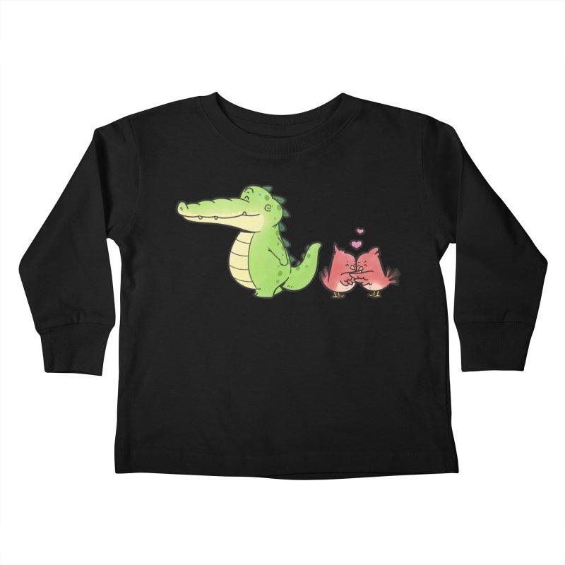 Buddy Gator - Calm Down, Bird Kids Toddler Longsleeve T-Shirt by Buddy Gator's Artist Shop