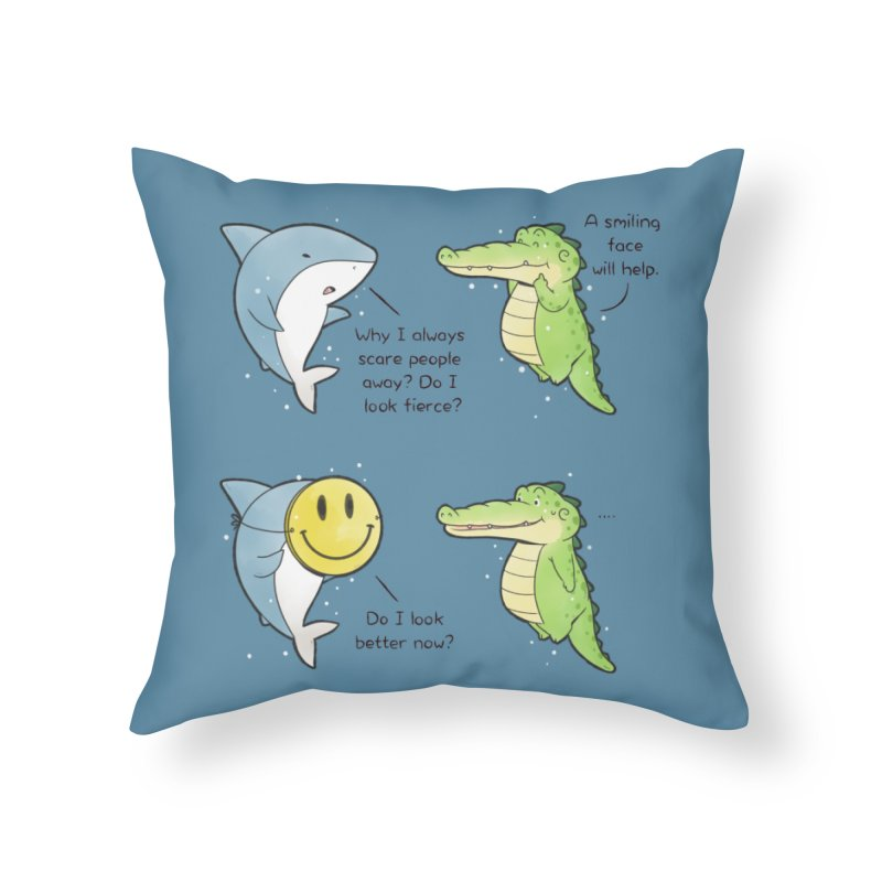 Buddy Gator - Smiling Face Home Throw Pillow by Buddy Gator's Artist Shop