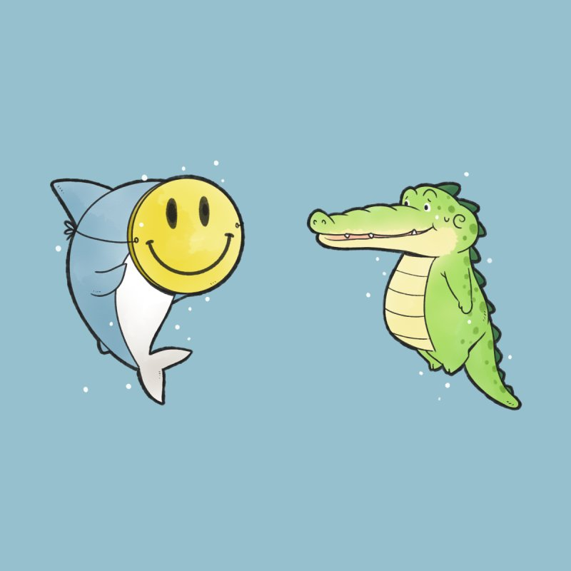 Buddy Gator - Smiling Face, Shark Home Throw Pillow by Buddy Gator's Artist Shop