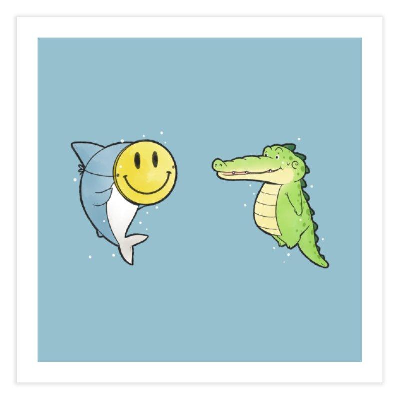 Buddy Gator - Smiling Face, Shark Home Fine Art Print by Buddy Gator's Artist Shop