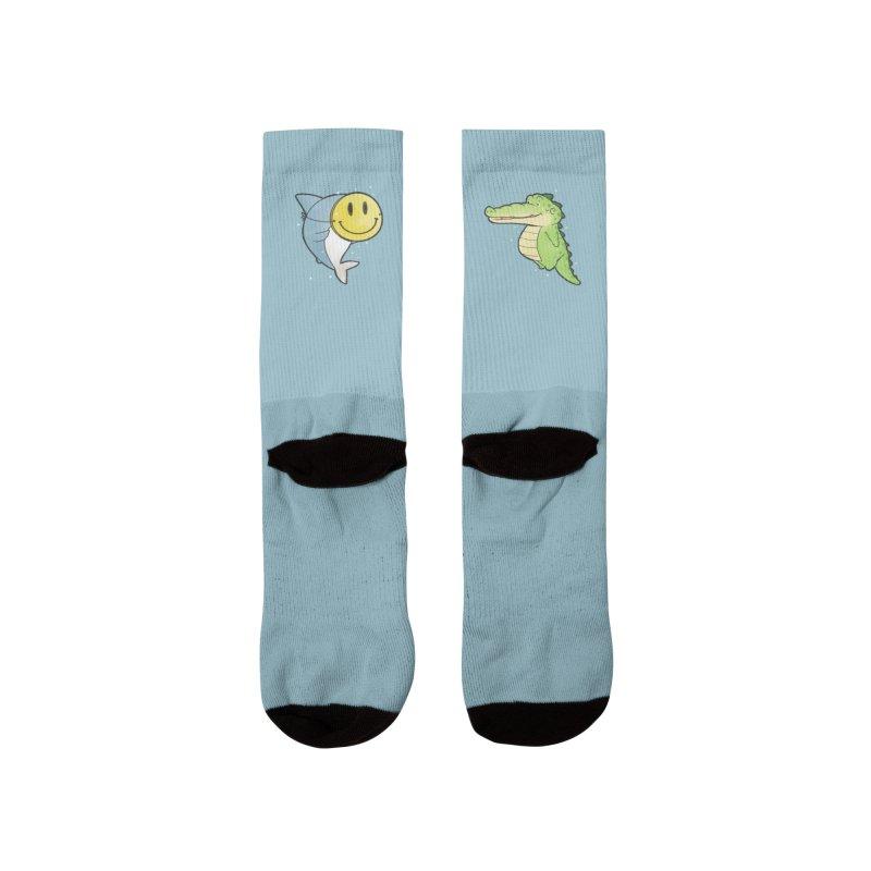 Buddy Gator - Smiling Face, Shark Women's Socks by Buddy Gator's Artist Shop