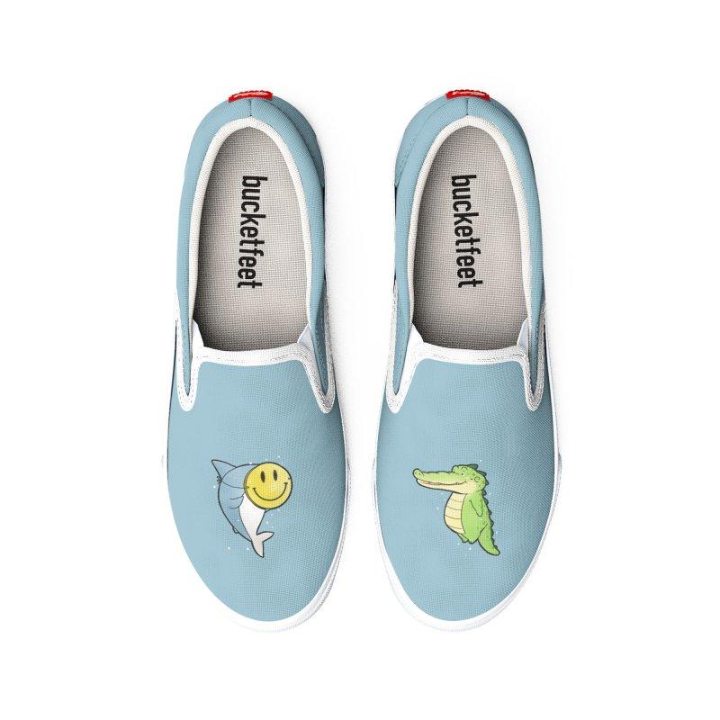 Buddy Gator - Smiling Face, Shark Women's Shoes by Buddy Gator's Artist Shop