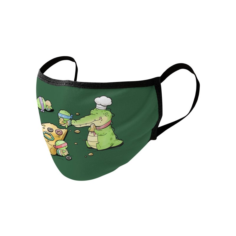 Buddy Gator - Pizza Lover Accessories Face Mask by Buddy Gator's Artist Shop