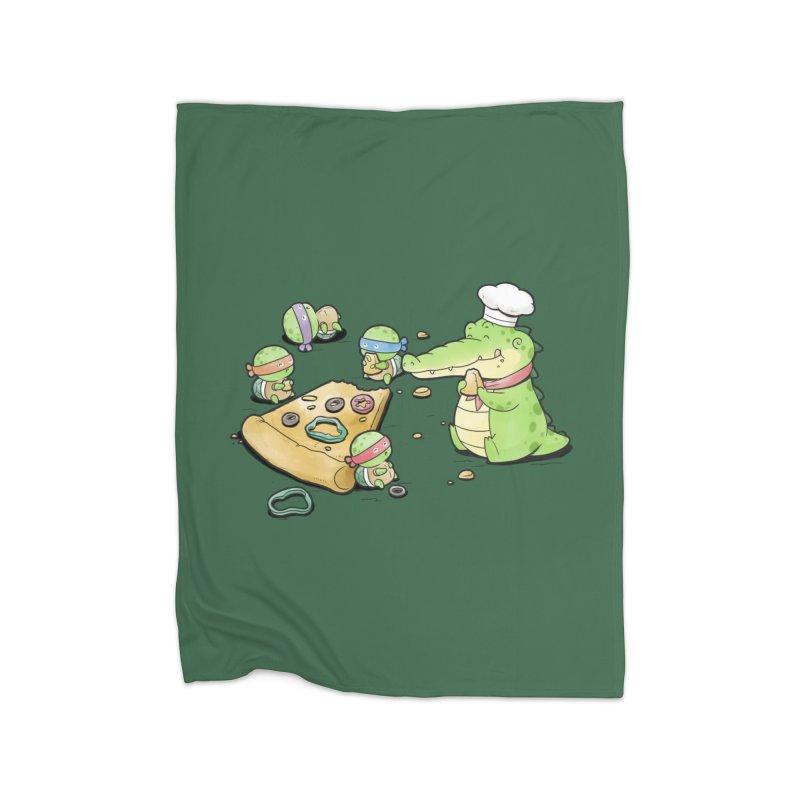 Buddy Gator - Pizza Lover Home Blanket by Buddy Gator's Artist Shop