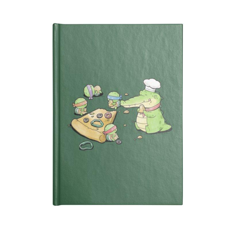 Buddy Gator - Pizza Lover Accessories Notebook by Buddy Gator's Artist Shop