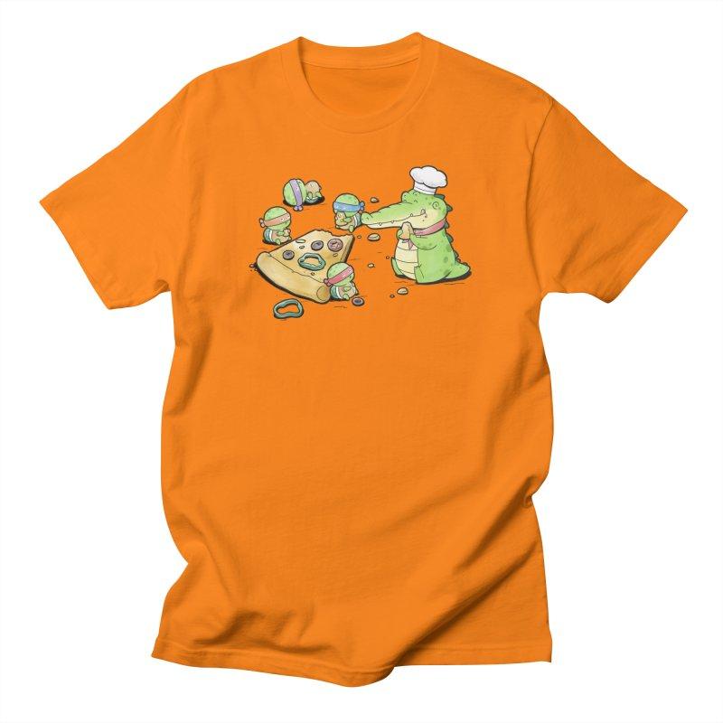 Buddy Gator - Pizza Lover Men's T-Shirt by Buddy Gator's Artist Shop