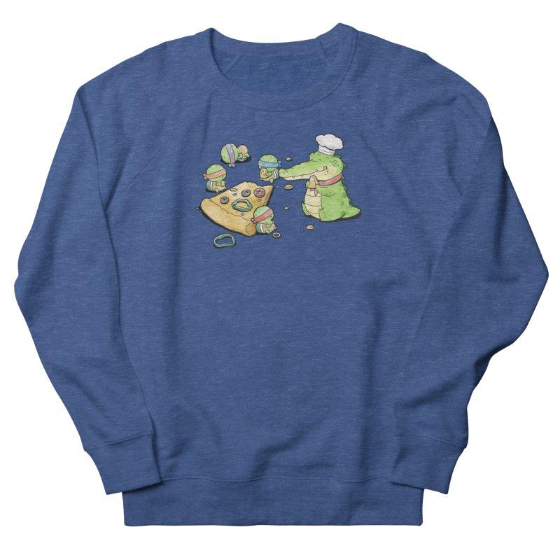 Buddy Gator - Pizza Lover Men's Sweatshirt by Buddy Gator's Artist Shop