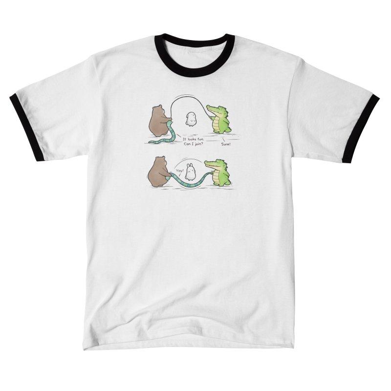 Buddy Gator - Jumping Rope Men's T-Shirt by Buddy Gator's Artist Shop
