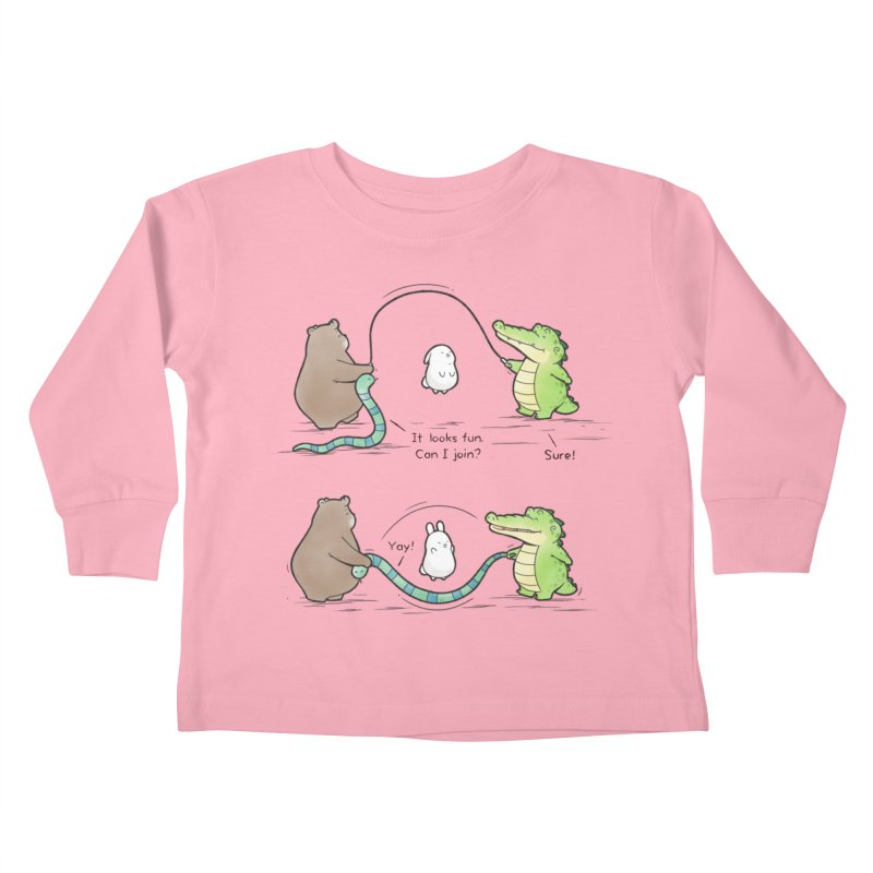 Buddy Gator - Jumping Rope Kids Toddler Longsleeve T-Shirt by Buddy Gator's Artist Shop