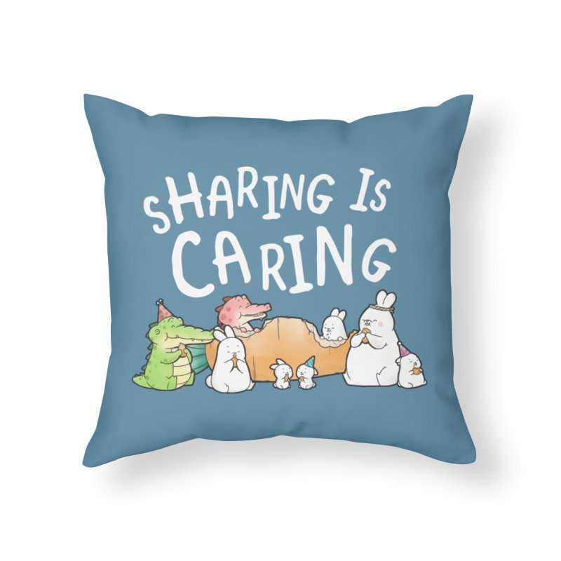 Buddy Gator - Sharing Is Caring Home Throw Pillow by Buddy Gator's Artist Shop