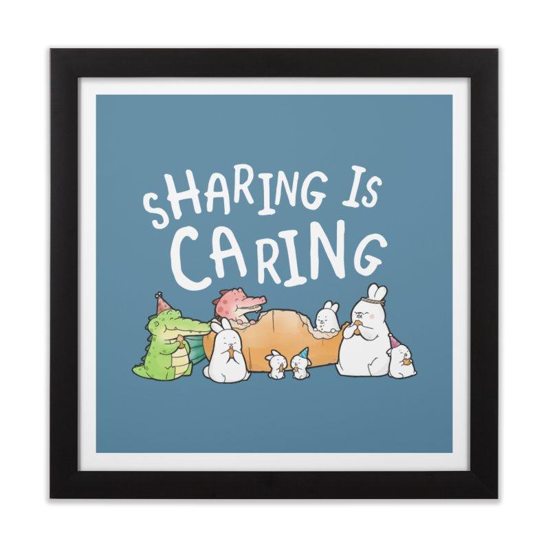 Buddy Gator - Sharing Is Caring Home Framed Fine Art Print by Buddy Gator's Artist Shop
