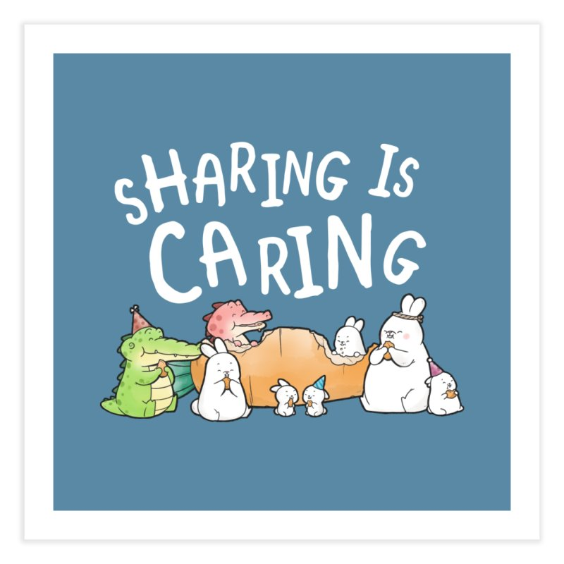 Buddy Gator - Sharing Is Caring Home Fine Art Print by Buddy Gator's Artist Shop