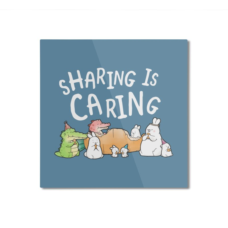 Buddy Gator - Sharing Is Caring Home Mounted Aluminum Print by Buddy Gator's Artist Shop