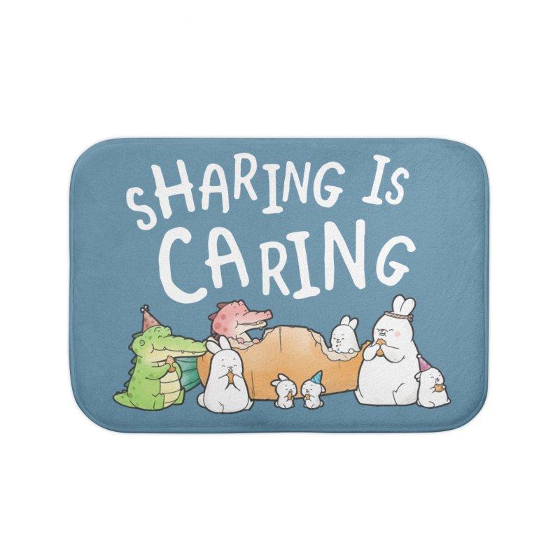 Buddy Gator - Sharing Is Caring Home Bath Mat by Buddy Gator's Artist Shop