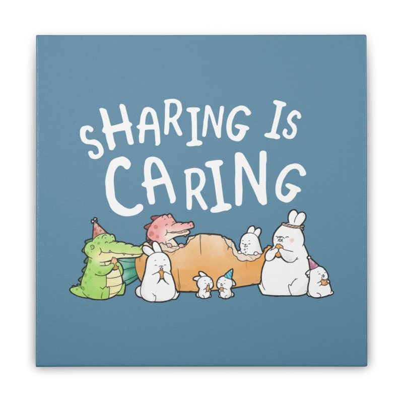 Buddy Gator - Sharing Is Caring Home Stretched Canvas by Buddy Gator's Artist Shop