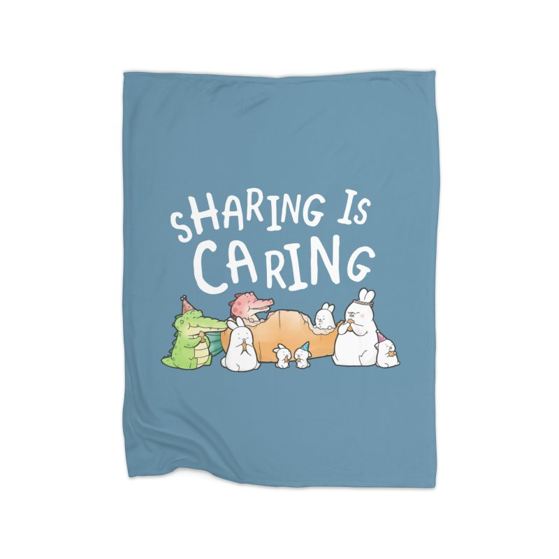 Buddy Gator - Sharing Is Caring Home Blanket by Buddy Gator's Artist Shop