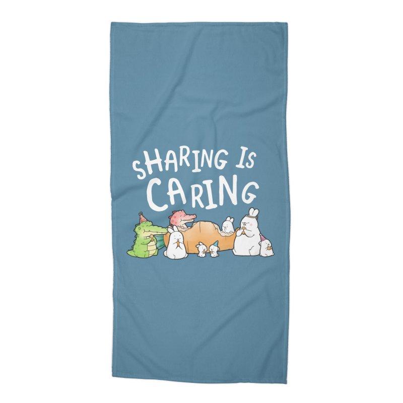 Buddy Gator - Sharing Is Caring Accessories Beach Towel by Buddy Gator's Artist Shop