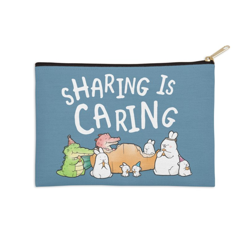 Buddy Gator - Sharing Is Caring Accessories Zip Pouch by Buddy Gator's Artist Shop