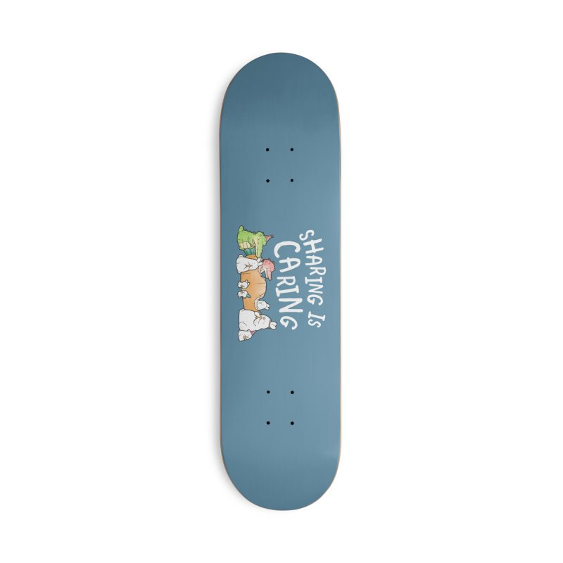 Buddy Gator - Sharing Is Caring Accessories Skateboard by Buddy Gator's Artist Shop