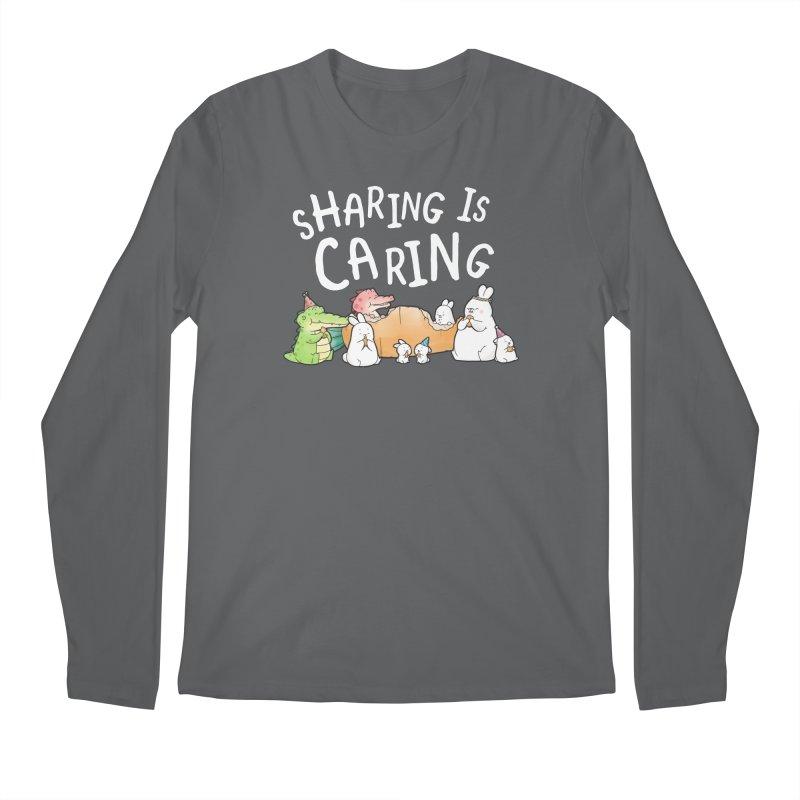 Buddy Gator - Sharing Is Caring Men's Longsleeve T-Shirt by Buddy Gator's Artist Shop