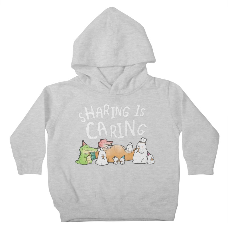 Buddy Gator - Sharing Is Caring Kids Toddler Pullover Hoody by Buddy Gator's Artist Shop