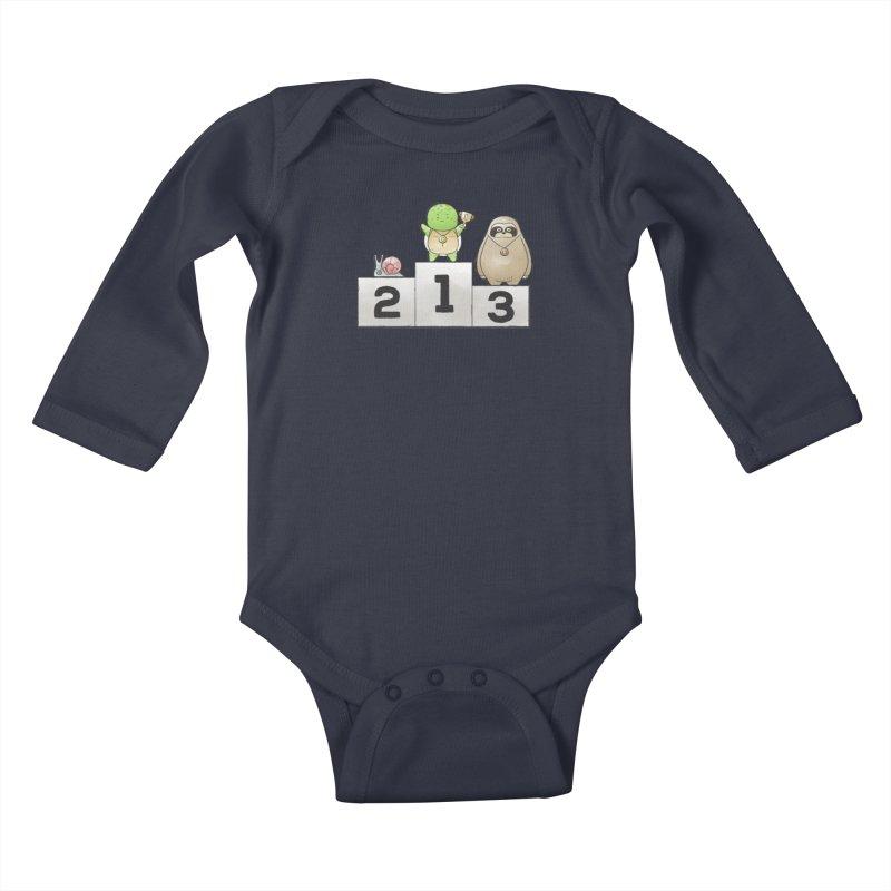 Buddy Gator - Champion Kids Baby Longsleeve Bodysuit by Buddy Gator's Artist Shop