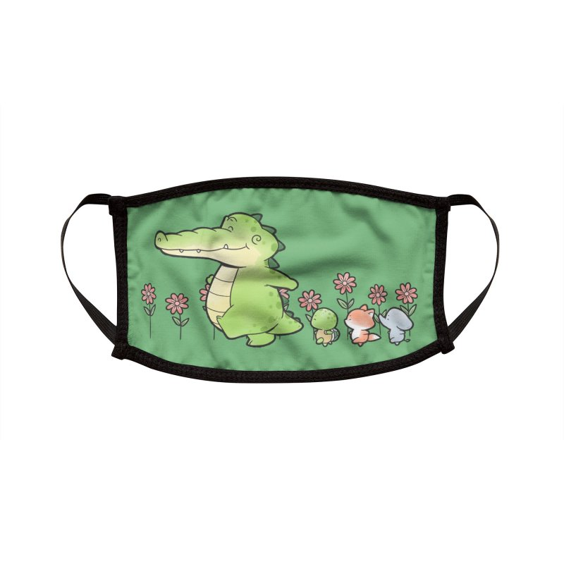 Buddy Gator - Follow Accessories Face Mask by Buddy Gator's Artist Shop