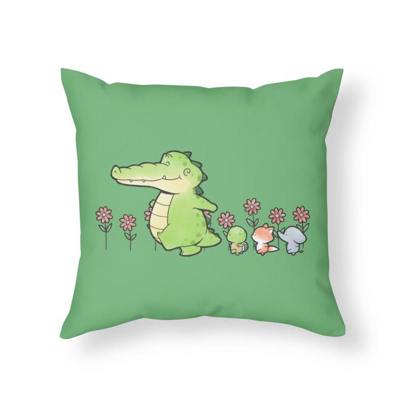 Buddy Gator - Follow Home Throw Pillow by Buddy Gator's Artist Shop