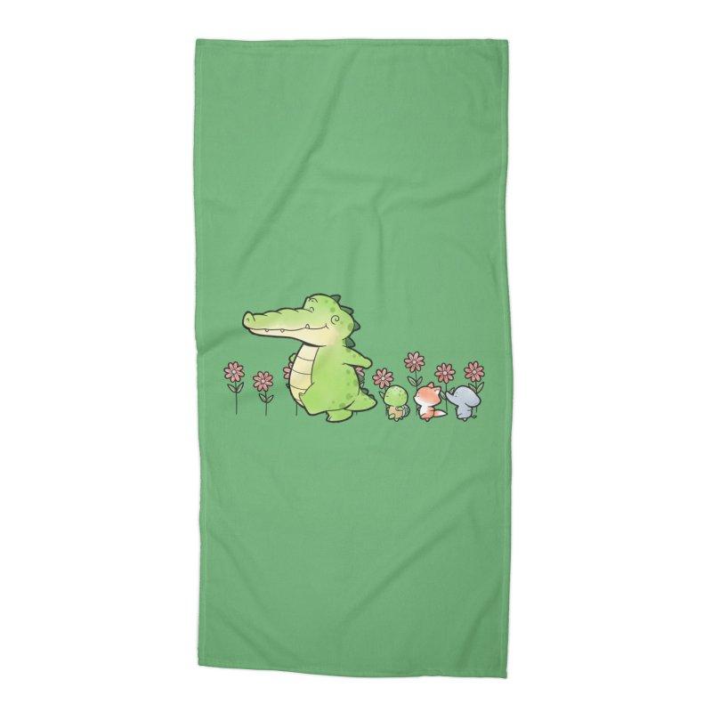 Buddy Gator - Follow Accessories Beach Towel by Buddy Gator's Artist Shop