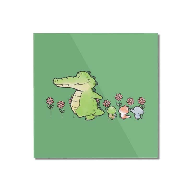 Buddy Gator - Follow Home Mounted Acrylic Print by Buddy Gator's Artist Shop
