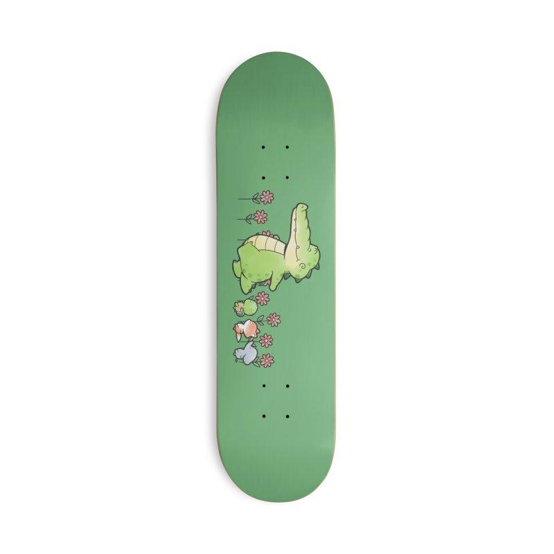 Buddy Gator - Follow Accessories Skateboard by Buddy Gator's Artist Shop