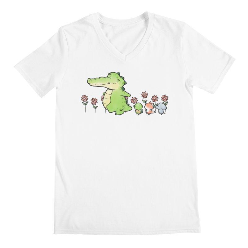Buddy Gator - Follow Men's V-Neck by Buddy Gator's Artist Shop