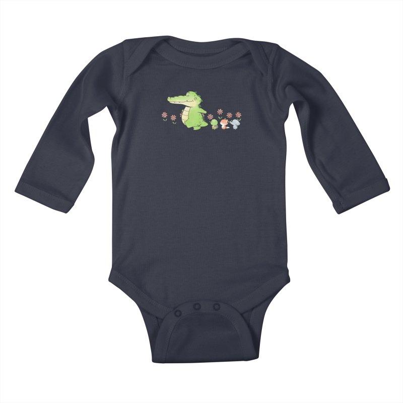 Buddy Gator - Follow Kids Baby Longsleeve Bodysuit by Buddy Gator's Artist Shop
