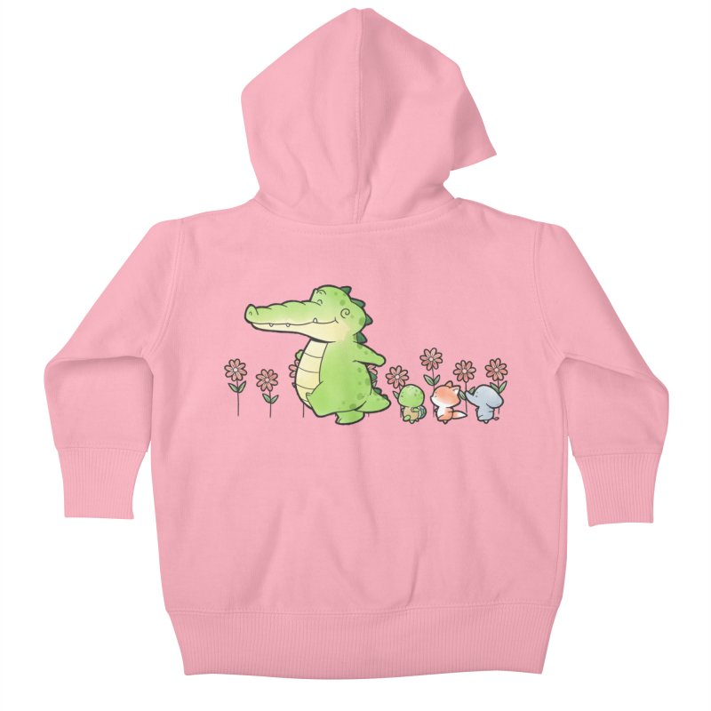 Buddy Gator - Follow Kids Baby Zip-Up Hoody by Buddy Gator's Artist Shop