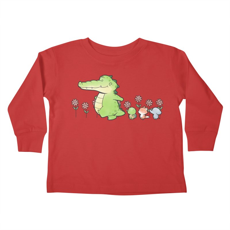 Buddy Gator - Follow Kids Toddler Longsleeve T-Shirt by Buddy Gator's Artist Shop