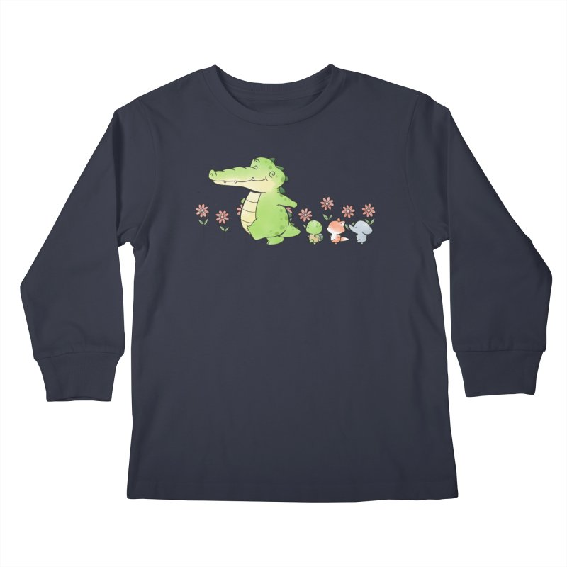 Buddy Gator - Follow Kids Longsleeve T-Shirt by Buddy Gator's Artist Shop