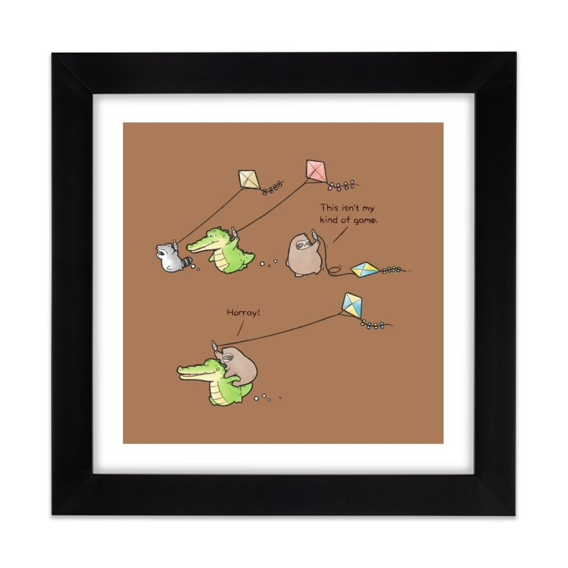 Buddy Gator - Fly A Kite Home Framed Fine Art Print by Buddy Gator's Artist Shop