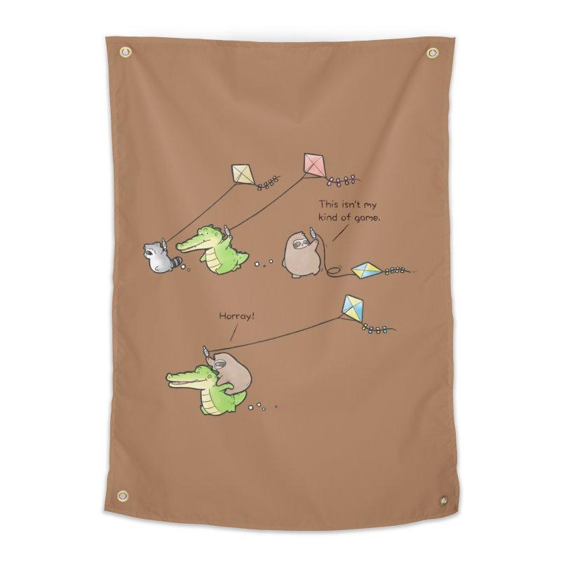 Buddy Gator - Fly A Kite Home Tapestry by Buddy Gator's Artist Shop