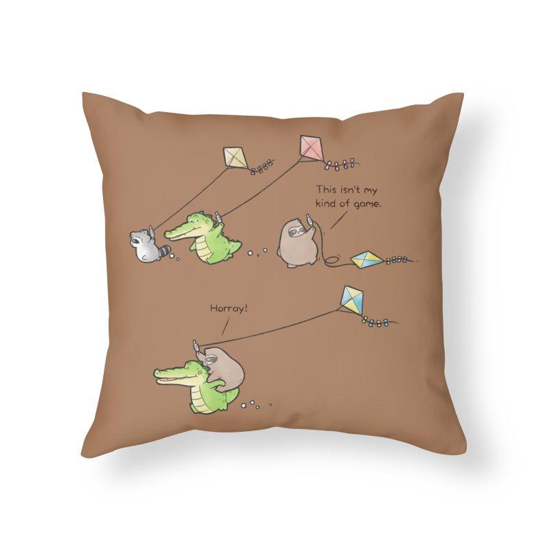 Buddy Gator - Fly A Kite Home Throw Pillow by Buddy Gator's Artist Shop