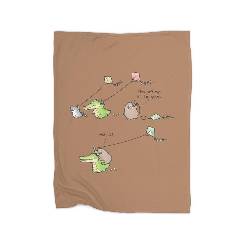 Buddy Gator - Fly A Kite Home Blanket by Buddy Gator's Artist Shop