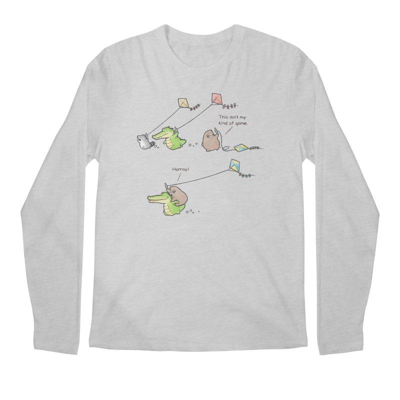 Buddy Gator - Fly A Kite Men's Longsleeve T-Shirt by Buddy Gator's Artist Shop