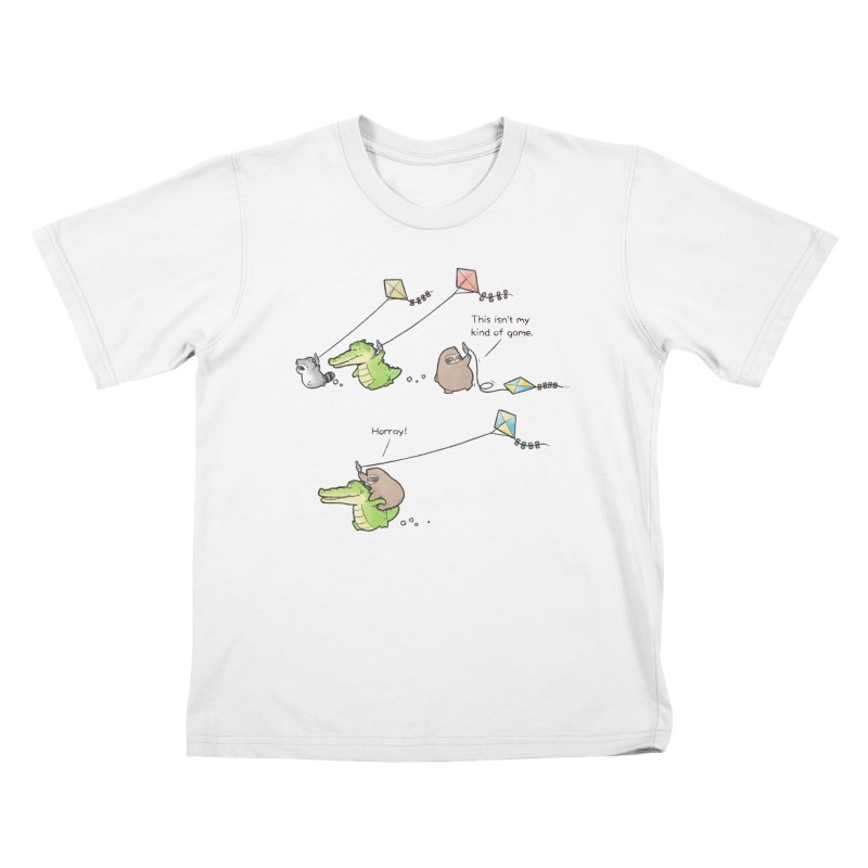 Buddy Gator - Fly A Kite Kids T-Shirt by Buddy Gator's Artist Shop