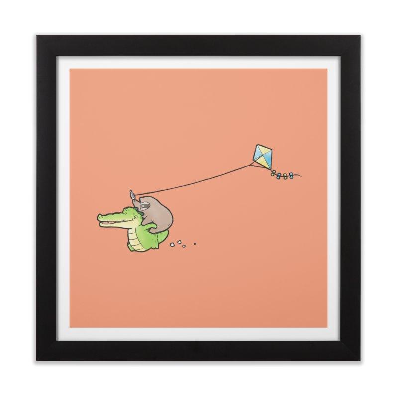 Buddy Gator, Sloth - Fly A Kite Home Framed Fine Art Print by Buddy Gator's Artist Shop